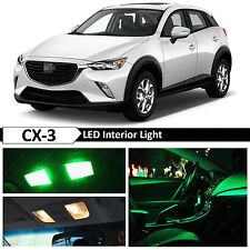 9pcs Green Interior Map Dome LED Light Package Kit for 2016-2017 Mazda CX-3 CX3