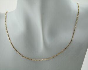Kette 585 14 kt. Gold Gelbgold Ankerkette sehr filigran und feminin