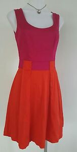 Review Dress, 6, Pink & Red, Cotton, Pre Owned in Excellent Condition $79.00