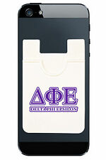 Delta Phi Epsilon IPhone Android Adhesive Mobile Wallet Pouch