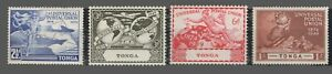 Tonga Sc. #87-90 MNH  UPU Issue   Wmk.4  1949