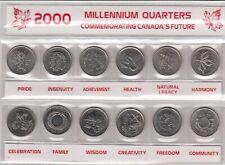 CANADA`S MILLENNIUM QUARTERS 12 COINS COMMEMORATING CANADA`S FUTURE  (4819)