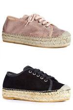 Womens Premium Lace up Espadrilles Shoes NEW