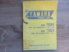Yamaha Parties List Catalogue de pièces de rechange TY50M ´77 Type 1G3 1G6