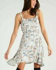 LTB NWT UK size 14 ivory floral butterfly print summer skater dress