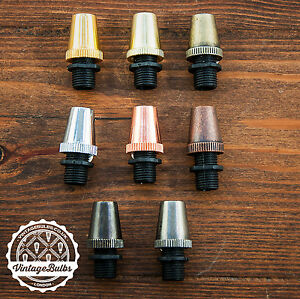 VintageCeiling Rose Cord Grip Pendant Strain Relief Cable Lock 10mm 4 Finishes