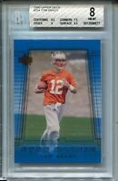 2000 Upper Deck Football #254 Tom Brady Rookie Card RC Graded BGS Nm Mint 8