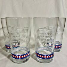 YEUNGLING LAGER - Toast A Hero TAPS - Pint Glass - Brand New - (Set of 4)