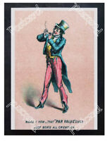 Historic Par Value Cigar 1880 Advertising Postcard