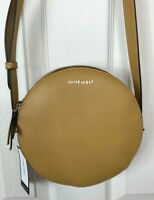 New Nine West Round About Mini Crossbody Purse in Butter Tan Brown Double Zip