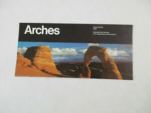 1986 Arches National Park Service Utah Travel Map Brochure Guide~BR2