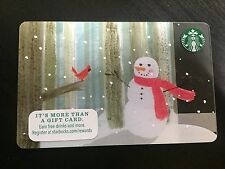 STARBUCKS Gift Card Christmas 2015 Snowman - Serial 6111 - FREE SHIPPING