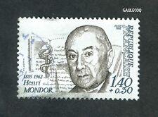 French Postage - Henri Mondor,1885-1962 1,40 + 0,30 Francs Stamp - Postes 1982