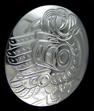 Northwest Coast Canada First Nations Indigenous Sterling Silver PUFFIN Pendant