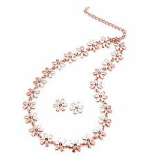 Rose Gold Daisy Necklace & Earring Set