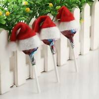 20pcs Mini Santa Claus Hats for Lollipop Christmas Holiday Decor Favor Gift