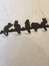 Brand New Cast Iron Cat Hook Brown Coat Key Hooks Hanger