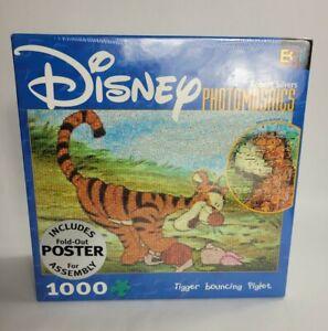 "Disney PhotoMosaics Robert Silvers ""Tigger Bouncing Piglet"" 1000 pcs Puzzle"