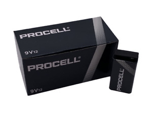 Duracell Procell Alkaline Batteries 9V 12 Count PC1604 Expires 2024
