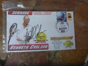 TENNIS STAR KENNETH CARLSEN HAND SIGNED  COVER