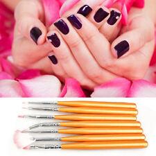 Set 7 Pennelli unghia ricostruzione gel UV nail art pedicure Pennello