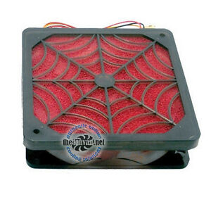 Evercool 92mm ANTI DUST Spider Filter Fan SFF-9 41 CFM! + Screws and Adapter!