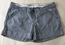 Abercrombie & Fitch~Preppy Striped Shorts / Blue and White~Women's Size 4