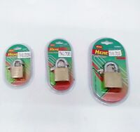 Brass Padlock 3 Size 25mm 30mm 40mm Solid Brass Padlock With 3 keys