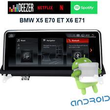 """Autoradio Android GPS  tactile 10.25"""" BMW X5 E70 et BMW X6 E71 WIFI"""