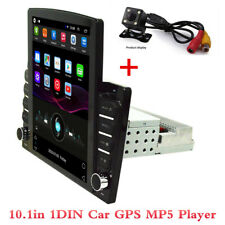 1DIN 10.1in Android 8.1 HD 1+16GB Car Stereo Radio MP5 Player GPS Navi + Camera