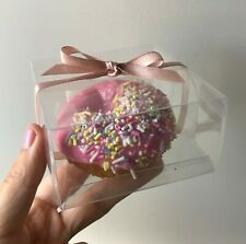 50x Clear Donut Favor Boxes Wedding Birthday Party Give Away Gift Box for Guests