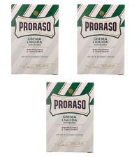 3pz PRORASO Crema Liquida Dopobarba rinfrescante e tonificante 100ml after shave