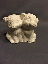 Pig Couple - Ceramic Bisque - Ready To Paint - U Paint