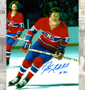Peter Mahovlich Montreal Canadiens Autographed 8x10