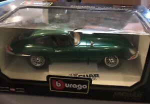 "BBurago Jaguar ""E"" Coupe  (1961) Diamonds 1/18 Diecast Metal / Plastic Parts"