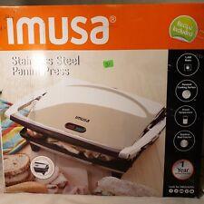 Imusa Usa Gau-80103 Electric Stainless Steel Panini Maker, Silver
