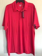 Ogio Men's Polo Shirt XL~Short Sleeve Golf  Red~Polyester- NWT