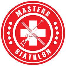 Biathlon Decal - Switzerland MASTERS BIATHLON - 3.0 Inches