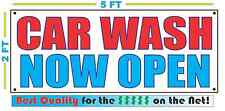 Car Wash Now Open Banner Sign New Larger Size Best Quality for the $
