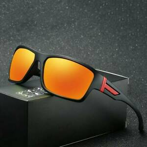 Mens Sport Outdoor Polarized Sunglasses Riding Fishing Square Eyewear Hot