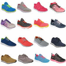 Multi-Coloured Lace Up Synthetic Upper Trainers for Women
