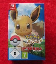 Pokemon Let's Go Eevee! Evoli + pokeball Plus, Nintendo switch juego, nuevo-en su embalaje original