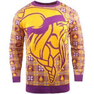 NFL Ugly Sweater Minnesota Vikings Jumper Christmas Style Big Logo Football 18