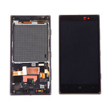 DISPLAY + TOUCH SCREEN +COVER FRAME per NOKIA LUMIA 830 NERO MICROSOFT CORNICE