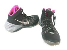 NIKE HYPERDUNK Mens Size 9 2013 BASKETBALL SHOES BLACK GREY PINK RARE 599537 005