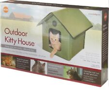 K&H Pet Products Outdoor Kitty House Unheated - Olive Kh3990