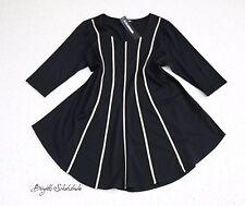 Doris Streich Luxus Long Shirt Gr.54 Stretch Schlankmacher A-Linie NEU
