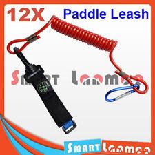 12 x Kayak Paddle Leash Compass Canoe Fishing Rod Boating Safety Coiled Lanyard