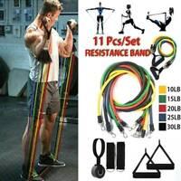 11Pcs Latex Yoga Strap Resistance Bands Exercise Home Gym Tube Fitness Elastic