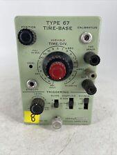 Rare Vintage Tektronix Type 67 Time Base Plug In